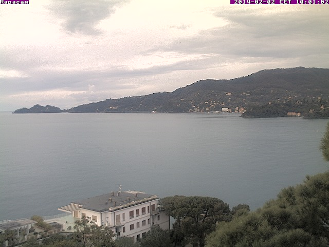 Webcam di Rapallo con vista su Portofino