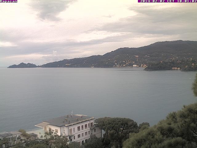 Webcam di Rapallo con vista su Portofino